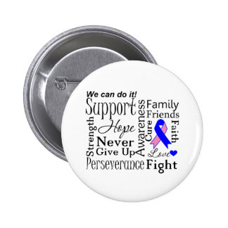 Male Breast Cancer Supportive Words Button