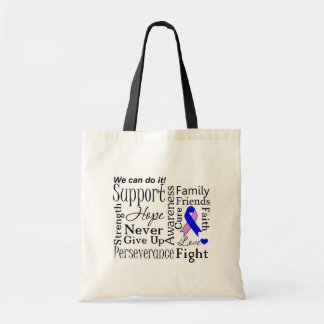 Male Breast Cancer Supportive Words Canvas Bag
