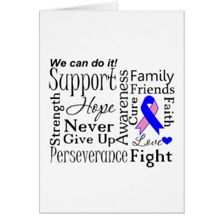 Male Breast Cancer Supportive Words Greeting Card