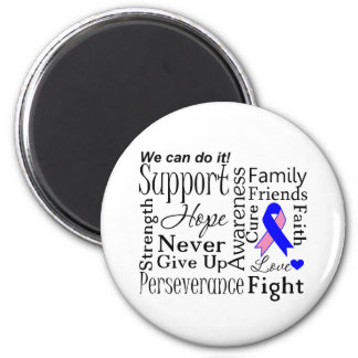 Male Breast Cancer Supportive Words Fridge Magnets