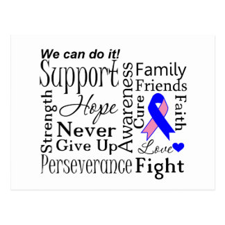 Male Breast Cancer Supportive Words Postcard