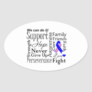 Male Breast Cancer Supportive Words Sticker