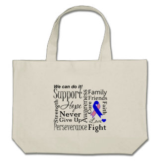 Male Breast Cancer Supportive Words Tote Bag