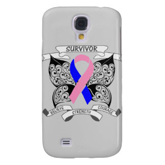 Male Breast Cancer Survivor Butterfly Strength Galaxy S4 Cases