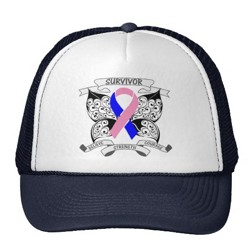 Male Breast Cancer Survivor Butterfly Strength Trucker Hat