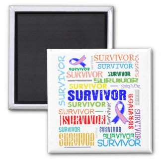Male Breast Cancer Survivor Collage.png Refrigerator Magnet
