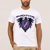 Male Breast Cancer Survivor Crest T-Shirt