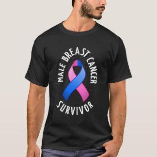 Male Breast Cancer Survivor Dark Shirt