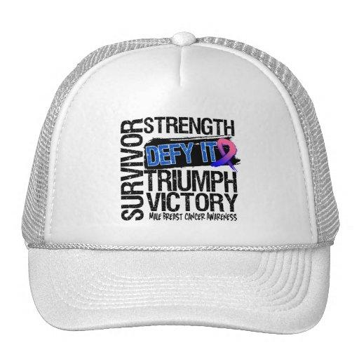 Male Breast Cancer Survivor Defy It Hat