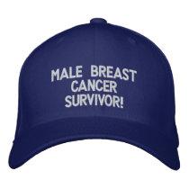 Male Breast Cancer Survivor! Embroidered Baseball Hat