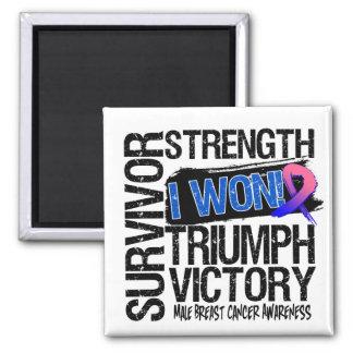 Male Breast Cancer Survivor I Won Fridge Magnets