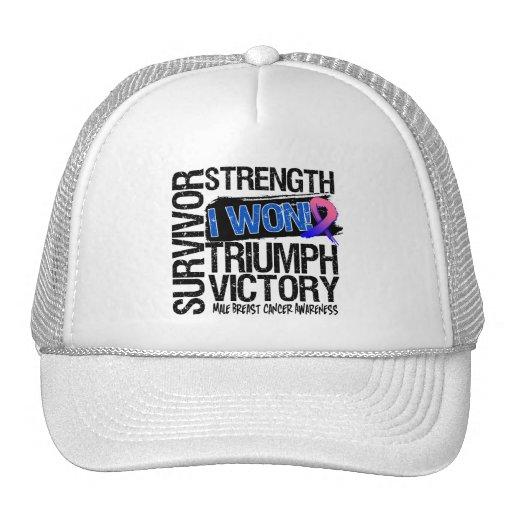 Male Breast Cancer Survivor I Won Mesh Hats