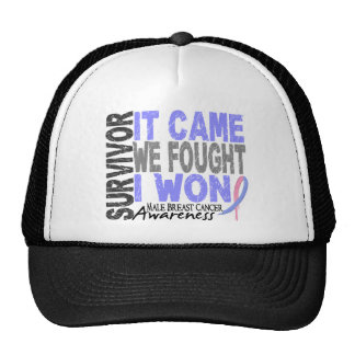 Male Breast Cancer Survivor It Came We Fought Trucker Hats