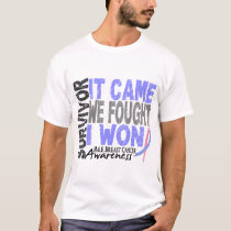 Male Breast Cancer Survivor It Came We Fought T-Shirt