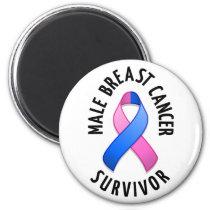 Male Breast Cancer Survivor Magnet