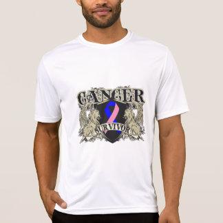 Male Breast Cancer Survivor Mens Heraldry T-Shirt