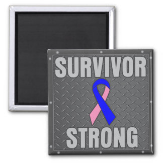 Male Breast Cancer Survivor Strong Fridge Magnet