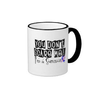 Male Breast Cancer Survivor You Don't Scare Me Ringer Coffee Mug