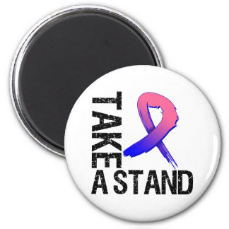 Male Breast Cancer Take A Stand 2 Inch Round Magnet