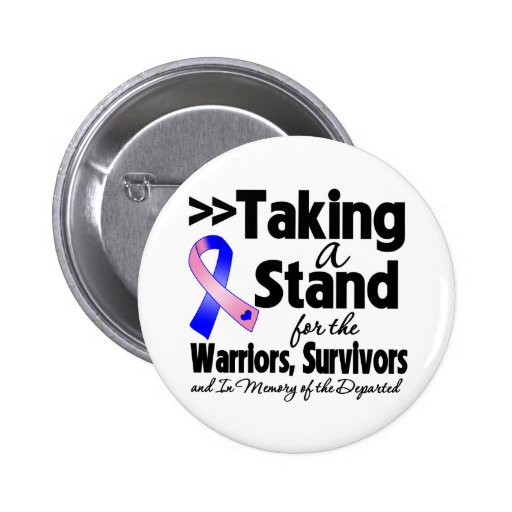 Male Breast Cancer Taking a Stand Tribute 2 Inch Round Button