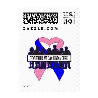 Male Breast Cancer Together We Can Find A Cure Stamp
