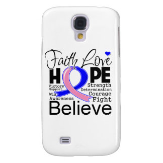 Male Breast Cancer Typographic Faith Love Hope Samsung Galaxy S4 Case