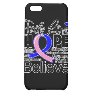 Male Breast Cancer Typographic Faith Love Hope iPhone 5C Cover