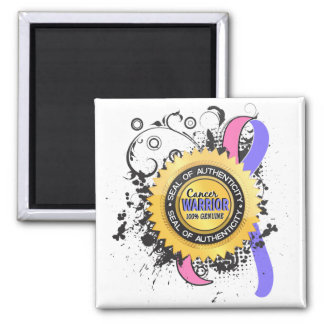 Male Breast Cancer Warrior 23 2 Inch Square Magnet