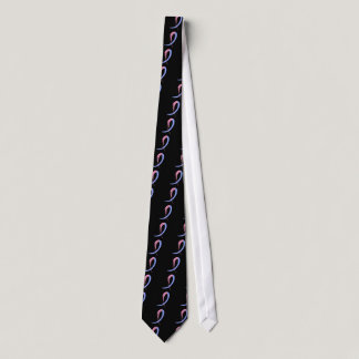 Male Breast Cancer's Blue And Pink Ribbon A4 Neck Tie
