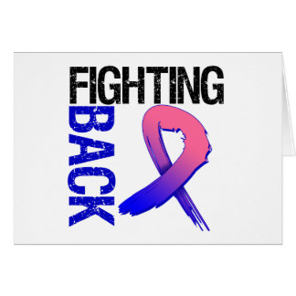 Male Breat Cancer Fighting Back Greeting Cards