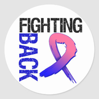 Male Breat Cancer Fighting Back Round Sticker