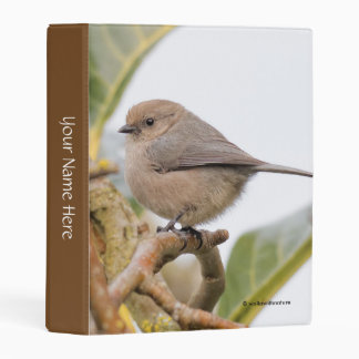 Male Bushtit on the Pear Tree Mini Binder