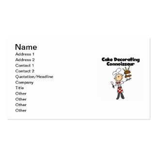 Male Cake Decorating Connoisseur Business Card
