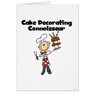 Male Cake Decorating Connoisseur Card