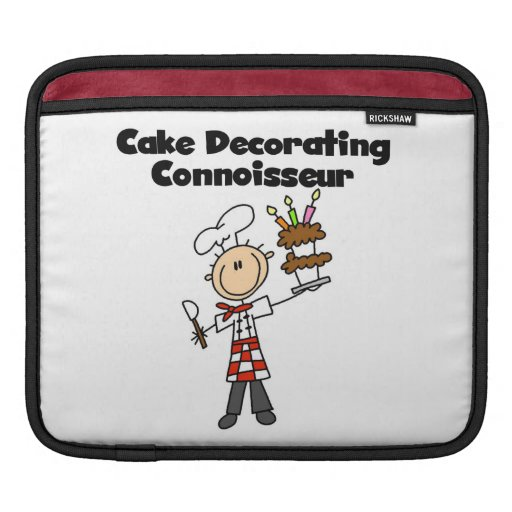 Male Cake Decorating Connoisseur iPad Sleeves