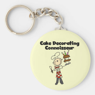 Male Cake Decorating Connoisseur Key Chain