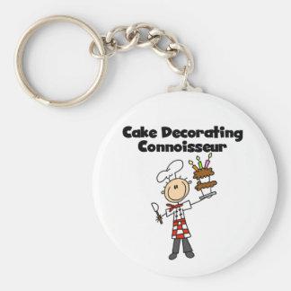 Male Cake Decorating Connoisseur Key Chains