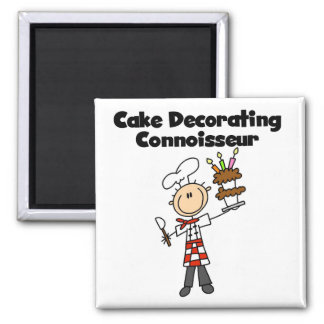 Male Cake Decorating Connoisseur Refrigerator Magnets