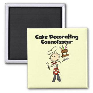 Male Cake Decorating Connoisseur Fridge Magnet