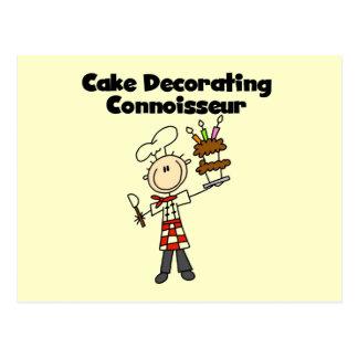 Male Cake Decorating Connoisseur Postcard
