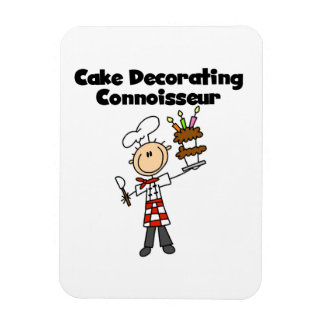 Male Cake Decorating Connoisseur Magnets
