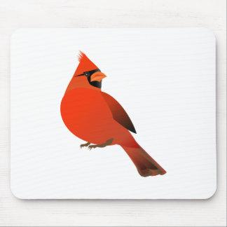Male Cardinal Bird Mouse Pads