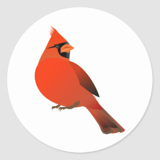 Male Cardinal Bird Sticker