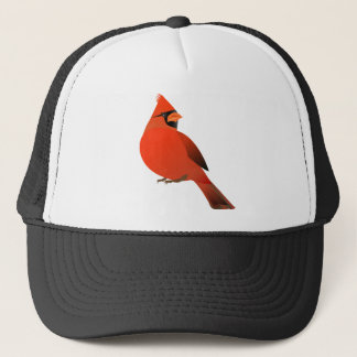 Male Cardinal Bird Trucker Hat