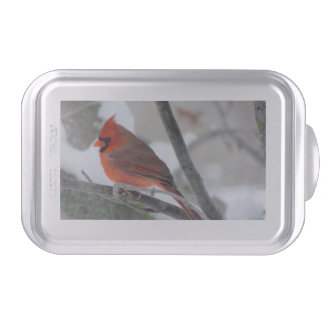 Male cardinal cake pan