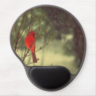 Male Cardinal Gel Mouse Pad