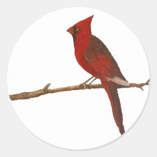 """Male Cardinal"" Giant Sticker"