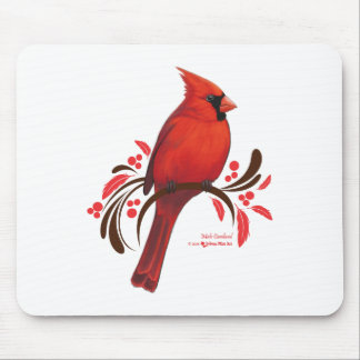 Male Cardinal Mouse Pad