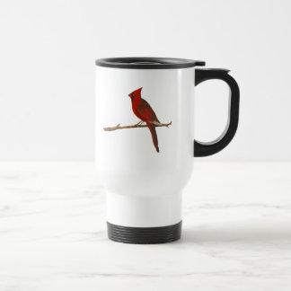 """Male Cardinal"" Plastic Travel Mug"