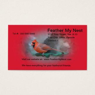 Male Cardinal Songbird Business Card
